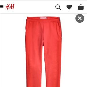 H&M skinny leggings with side zipper